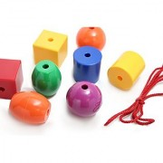 Jumbo Plastic Beads - 1.5 - 1.75 - Giant Colorful Beads for Young Toddlers - Occupational therapy ASD Autism Therapy Toy