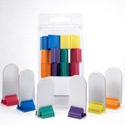 Value Pack of 12 - Blank board game stand-up player pieces with multi-color card stands - 2 Sets of 6 - markers pawns tokens DIY