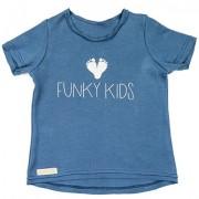 Tricou imprimat Funkykids (unisex) - albastru, 18 luni