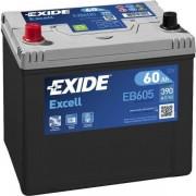 EXIDE Excell EB605 60Ah 390A ASIA autó akkumulátor bal+