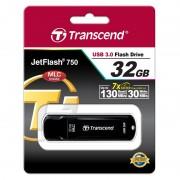 USB DRIVE, 32GB, Transcend JETFLASH 750, USB3.0, Black (TS32GJF750K)