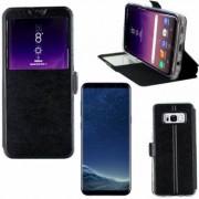 Samsung Etui Rabattable Simili Cuir Noir Ouverture Ecran pour Samsung Galaxy S8 Plus