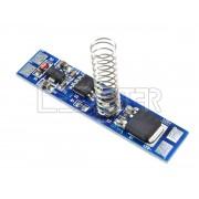 Dotykový spínač a stmievač pre LED pásiky, do lišty, LED indikácia, 60W, 12V