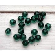 Facetterade glaspärlor - Emerald 8X6mm, 1 sträng