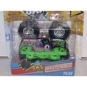 2011 HOT WHEELS 1:64 SCALE GRAVE DIGGER TRAVEL TREADS TATTOO MONSTER JAM TRUCK. #79/80