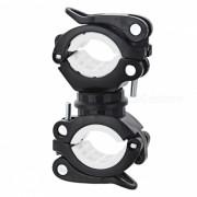 Soporte giratorio de la lampara de la bicicleta de 360 ??grados / clip ligero - negro + blanco