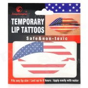 MG-1 Fashionable American Flag Pattern Temporary Lip Tattoos Stickers - Red + Blue + White