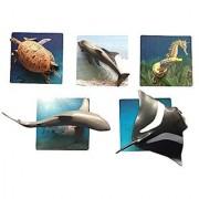 Montessori Ocean Animal Matching Activity Set With 3 Part Cards And Schleich Animals