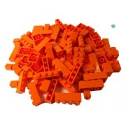 LEGOÃ'® - 100 Lego bricks in various sizes - rare bricks included ! - New (Orange) by LEGO