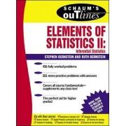 Schaum's Outline of Elements of Statistics II: Inferential Statistics by Ruth Bernstein