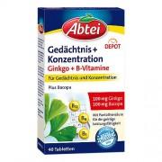 Omega Pharma Deutschland GmbH ABTEI Ginkgo+Bacopa B-Vitamine Depot Tabletten 40 St