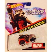 Hot Wheels, Marvel Character Car, Guardians of the Galaxy Rocket Raccoon #12, 1:64 Scale by Mattel