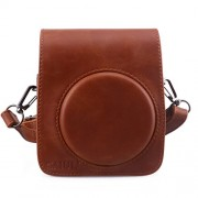 [Fujifilm Instax Mini 70 Case] - CAIUL Comprehensive Protection Instax Mini 70 Camera Case Bag With Soft PU Leather Material ( Brown )