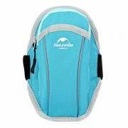 """NatureHike Outdoor Sports Jogging Water-Resistant Nylon Armband Arm Bag for 5.5"""" Phone - Blue"""