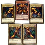 Yu-Gi-Oh Premium Gold: Return of the Bling Single Cards Gold Rare Set of all 5 Parts of Exodia the Forbidden One by Yu-Gi-Oh!