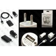 Комплект зарядни+кабел за iPhone 5/iPod Touch 5/Touch 6/ iPod nano 7