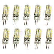 1.5W G4 2-pins LED-lampen T 24LED SMD 3014 150LM lm Warm wit Koel wit Decoratief DC 12 V 10 stuks