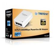 TRENDnet TPL-305E :: 3-Port 200 Mbps Powerline AV адаптер