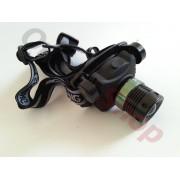 Мощен LED фенер за глава с вграден акумулатор SH-A06