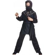 Rubie's - Costume da travestimento per bambini, Ninja, taglia large, colore: Nero