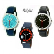 Mark Regal Men's Analog Wrist Watches Unique Combo Of 3