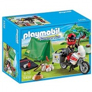 PLAYMOBIL Biker at Camp Site Playset