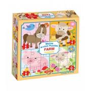 Puzzle pentru bebeluși Dohány Primul meu puzzle Fermă 500