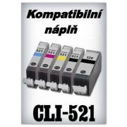 Náplň do tiskárny Canon CLI-521M - magenta s čipem (komp.)