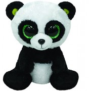 Ty Beanie Boos - Oso panda de peluche (tamaño grande) - Peluche Beanie Boos Bamboo Panda 23cm, Juguete Peluche Primera Infancia
