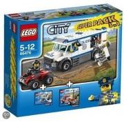 LEGO City 66476 3in1 Voordeelpak : Politie Gevangenentransport 60043 + Brandweercommandant 60001 + Surfer Redding 60011