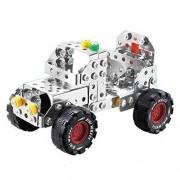 Yixin Metal Build N Play Assemble Disassemble Jeep Creative Construction Building Kit Vehicle Car Model 195pcs Building Toy