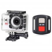 Remoto Deportes Cámara 1080P Completo HD Impermeable-blanco