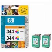 HP 344 + HP 344 Цветни глави 2610/2710 Officejet 7310/7410 TWIN PACK ( C9363EE + C9363EE ) (C9505EE)