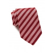 BOSS Hugo Boss Stripe Diamond Silk Tie BRIGHT RED