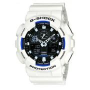 Casio G-Shock GA-100B-7AER Orologio Analogico Digitale da Polso da Uomo, Resina, Bianco