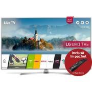 """Televizor LED LG 125 cm (49"""") 49UJ701V, Ultra HD 4K, Smart TV, webOS 3.5, WiFi, CI + Voucher Cadou 1 metru de Berea Casei la Restaurantul Hanu' Berarilor"""