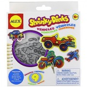 26 piece set-Color bake and shrink exciting modes of transportation-Make cars a motorcycle a plane and more-Includes