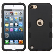 Funda Protector Triple Layer Uso Rudo Ipod Touch 5 Negro Doble - 2
