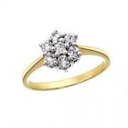 Aglaia Bague - 7.48.2503 - Anillo de mujer de oro amarillo (18k) con 7 diamantes (talla: 16.5)
