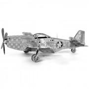 Modelos creativo laser 3D P-51 Mustang Nano Puzzle Toy - Plata