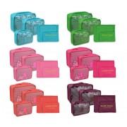 2779 Set di 6 organizer da valigia in varie misure e colori