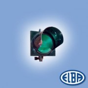 Közlekedési jelzőlámpa 1S1TL LED piros, ABS test, ellenző nélkül d=300mm IP56 Elba