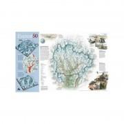 Harta Mount Everest, 50th Anniversary faţă-verso National Geographic