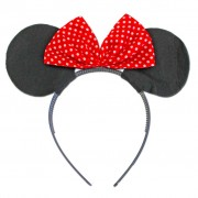 Alice Band Big Mouse Ears With Red Polka Dot Bow