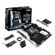 Asus X99 Deluxe USB 3.1 - LGA2011v3 Socket MotherBoard ( DDR4 Upto 128GB, 3x3 802.11ac Wi-Fi, Full ATX FormFactor)