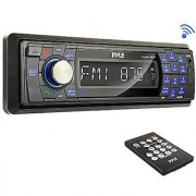 Pyle PLMR17BTB Bluetooth Stereo Radio Headunit Receiver Wireless Streaming & Hands-Free Call Answering Aux (3.5mm) MP3 Input USB & SD Card Readers Remote Control Single DIN