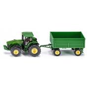 1:50 Siku John Deere Tractor With Trailer