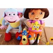 Dora The Explorer Anime Animal Stuffed Plush Toys Dora Monkey Swiper Fox 3 Pcs/Set