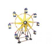 LOZ Li Chi fight inserted plastic Lego building block toy windmill Ferris wheel electric yellow