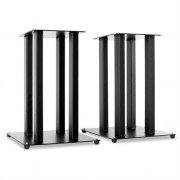 Pair Hifi Speaker Stands - Black Pillar Design